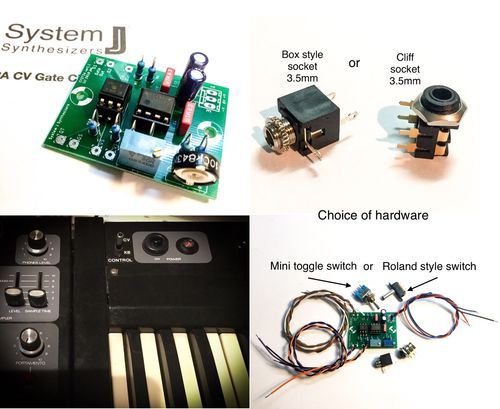 Roland SH-3A CV Gate Interface, Self-Install Kit