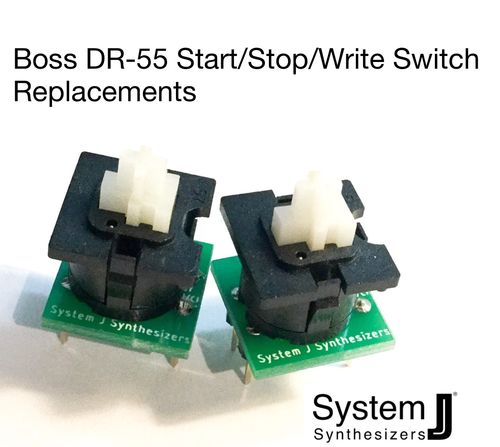 Boss DR-55 Start Stop Write switch replacement set