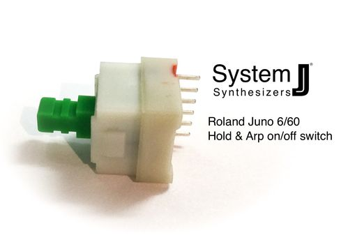 Roland Juno 6 60 Hold & Arp on/off switch